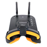 XT-XINTE New Mini FPV Goggles 3 inch 480 x 320 Display Double Antenna 5.8G 40CH Built-in 3.7V 1200mAh Battery for Racing Drone Models