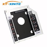 XT-XINTE 9mm SATA 3.0 Interface 2.5 Inch Hard Drive Bracket SSD Adapter Optibay HDD Caddy DVD CD-ROM Enclosure Adapter Case for Laptop PC