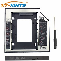 2.5inch SSD Adapter 9.5mm SATA 3.0 HDD Hard Disk Drive CD-ROM Bracket Laptop HDD Caddy Adapter Internal Enclosure for Computer