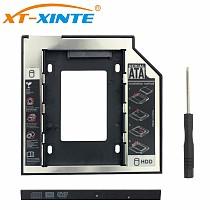 XT-XINTE 12.7m SSD Adapter SATA 3.0 HDD Hard Disk Drive CD-ROM Bracket 2.5  Laptop HDD Caddy Adapter Internal Enclosure for Computer PC