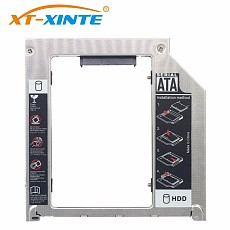 XT-XINTE 9.5mm SATA to SATA 3.0 SSD Adapter Spport sata3 HDD Hard Disk Drive Bracket 2.5 inch Mount for Apple MacBook Pro iMac Laptop