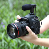 PULUZ PU3017 3.5mm Professional Audio Stereo Recoding Interview Microphone ABS for DV DSLR Camera