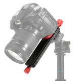 PULUZ PU3520 Quick Release Plate Macro Focusing Rail Slider Close-up Shooting Tripod Head Holder 1/4 Screw Tripod Plate