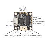 TeenyF3 Pro Flight Control Integrated OSD Built-in Buck-Boost Converter for 60mm-80mm Mini Brushless FPV Quadcopter Frame