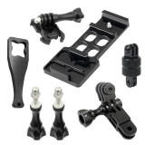 6 in 1 CNC Aluminum 20mm Side Rail Mount Set with screws Wrench for Gopro Xiaoyi Gitup Action Camera