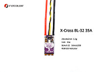 Flycolor X-Cross 35A BLHeli_32 Brushless ESC for 3-6S Lipo FPV Racing Drone Quadcopter RC Racer