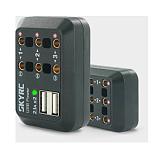 DC Power Distributor Multi Output 10A XT60 Plug Banana Plug DC Male Plug with 2.1A 5V 2 USB Ports with LED Light RC TOY Parts