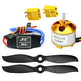 JMT Fixed Wings Helicopter High Efficiency Parts : 7*4E 7040 Propeller Paddle & Brushless 2200KV A2212 Motor & Simonk 30A ESC