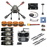 DIY 2.4GHz 4-Aixs RC Drone 630mm Frame Kit APM2.8 Flight Controller with AT9S TX RX Brushless Motor ESC Altitude Hold Quadcopter