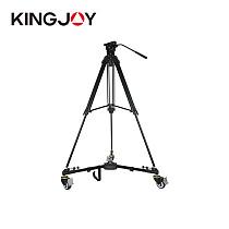 KINGJOY VX-600D Tripod Pulley Base Professional Photography Bracket Pulley Caster For SLR DSLR Video Camera Filming