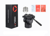 KINGJOY VT-2510 Video Fluid Dydraulic Damping Damper Tripod Ball Head with Quick Release Plate for DSLR Camera Camcorder