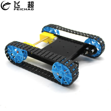 FEICHAO DIY Assembled Tank Model w/ Remote Control Robot Chassis Crawler Caterpillar Vehicle Material Kit Gifts for Kids