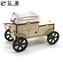 FEICHAO DIY Wooden Toys Car w/ Human Sensing Infrared Sensor Physical Material Kits Assembled Educational Model Vehicle Kid Gift