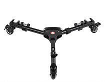 KINGJOY VX-600 Professional 3 Wheels Pulley Adjustable Tripod Base Stand Leg Mounts Caster For SLR DSLR Video Camera