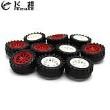 10Pcs Plastic 31*2mm Mini Wheels 31mm Dia Tires 2.0mm Hole Tyre for DIY 2WD / 4WD Vehicle Model Car Robotic Kit Parts Robot Toys