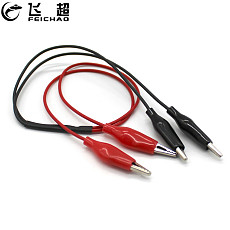 2 Wires 4 Clips Alligator Clip Electrical DIY Test Probe Leads Double-ended Crocodile Clips Test Jumper Wire Multimeter Tool