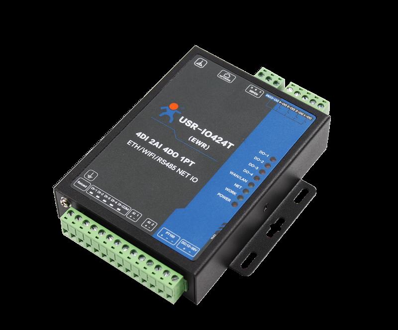 4DI//4DO//2AI//1PT IO Controller Support WAN//LAN Interface RS485 Serial Server
