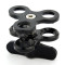 BGNING Aluminum CNC Camera Accessory Diving Ball Fixture Lights Arm Ball Butterfly Clip Triple Clamp Mount Adapter for Gopro 5 6