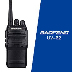 Baofeng BF-UV62 Portable Walkie Talkie PTT 5W 128CH FM Radio UV-62 Mic Two Way Radio with Flashlight Communicator Transceiver