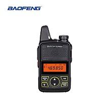 BAOFENG BF-T1 Walkie Talkie MINI Radio UHF 400-470MHz FM Transceiver With PTT Earpiece Hotel Civilian Radio Comunicacion Transceiver