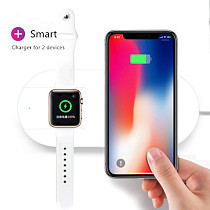 2 in 1 Qi Wireless Charger Fast Charging for iWatch 3 2 For iPhone X 10 8 8 Plus for Samsung S8