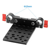 Tripod Mounting Cheese Plate Base fr 19mm Rod Support Rail Follow Focus Rig 5D2