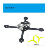 KINGKONG LDARC KK 5GT FPV Brushless FPV Racing Drone Quadcopter Frame Kit with 5 Pairs 5150 Props
