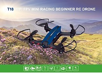 T18 6 axle 2.4GHz 4CH 720P video Camera Wide-angle Lens Wifi FPV RC Racing Quadcopter Mini FPV Drone Helicopters