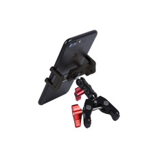 360 Rotating Mobile Phone Clip Tripod Head Mount Super Crab Clamp 1/4  Screw Adapter for Live Studio Photo Flash Lamp Fill Light