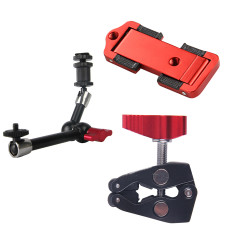 Aluminum 7  9  11  11Inch Articulating Magic Arm 1/4 Hot Shoe Clamp Mount for Monitor Flash Light DSLR Camera Rig Tripod Bracket