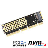 XT-XINTE M.2 NGFF NVMe SSD to PCI-E 3.0 16x X16/X8/X4 Adapter M2 NGFF Key M PCIE Extender Card w/ Heat Sink Radiator for 1U 2U Servers PC