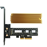 XT-XINTE M Key M.2 NVMe PCI-e SSD NGFF Type to PCIE PCI Express 3.0 4X Adapter Card with Heatsink for PC Laptop Support 2242 2260 2280