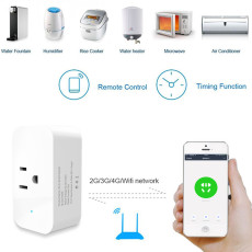 MingChuan WiFi Smart Plug Competitable with Alexa Google Voice Control Energy Monitoring and Timer Function No Hub Required 16A WiFi Socket (Straight Edge Design)