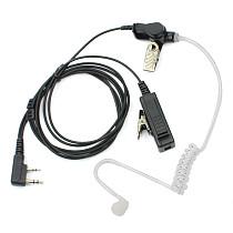 2Pin Covert Air Tube PTT Mic Earpiece Headset Earphone for KENWOOD BaoFeng UV-5R BF-888s Retevis H777 RT22 TYT HYT Walkie Talkie