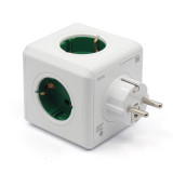 015 Hot New Design Allocacoc Kelly Green DE Powercube 5 Outlets Power Strip Switch Socket