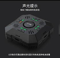 E4Q DC Multi Charger 4ports 2S 3S 4S LiPo Battery Smart Balance Charger with XT60 Connector LED Indicator 2A/3A/5A Current