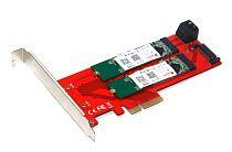 XT-XINTE New 3 Interfaces M.2 NVMe SSD NGFF to PCIE X16 Adapter 1x M Key 2x B Key Riser Card Expansion Support PCI Express 3.0 4X M2 SATA