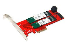 XT-XINTE New 3 Interfaces M.2 NVMe SSD NGFF to PCIE X16 Adapter 1x M Key 2x B Key Riser Card Expansion Support PCI Express 3.0 4X M2 SATA