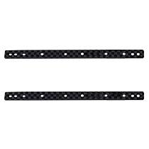 2pcs 1.5MM Carbon Fiber Lengthened Ice Cream Bar DIY TAMIYA MINI 4WD Car Model Accessories Black