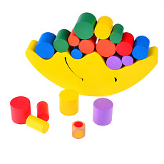 Feichao Moon Balancing Frame Baby Early Learning Toy Montessori Teaching Aids Moon Balance Colorful Early Development Wood Block Toys