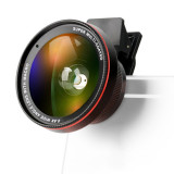 Zomei 0.6X Wide Angle Lens with Clip 37mm Macro Mobile Phone Lens 2 in 1 Universal for iphone 7/7s Samsung Android ios Phones