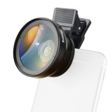 ZOMEI Mobile Phone Camera Macro Lens 37mm 0.45X Wide Angle Clip-on Universal for Cell Phone iphone 7/7s Samsung Android ios