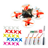 Happymodel Mobula7 V2 75mm Crazybee F3 Pro OSD 2S Whoop FPV Racing Drone w/ 700TVL Camera BNF with extra 10 pairs propeller