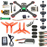 Frog 218mm Racer Drone BNF Frsky D16 Mini RX / PNP Set Betaflight F4 Pro V2 BLHeli-s 30A 5.8G VTX 700TVL Camera FPV Quadcopter