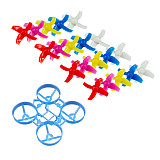 JMT 65mm Bwhoop65 Brushless Whoop Frame Kit with 10Pairs CW CCW 31mm 3-Blade Propeller for Indoor FPV Racing Drone Quadcopter