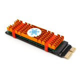 XT-XINTE NVME Adapter Card NGFF M.2 M Key to PCI-E 1x PCI Express Raiser Extension with Heatsink Vertical Support 2230 2242 2260 2280 SSD