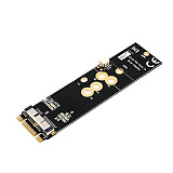XT-XINTE BCM94360CD BCM94360CS2 BCM943224PCIEBT2 12+6 Pin Bluetooth WiFi Wireless Card Module to M.2 NGFF Key B+M Adapter for Mac OS