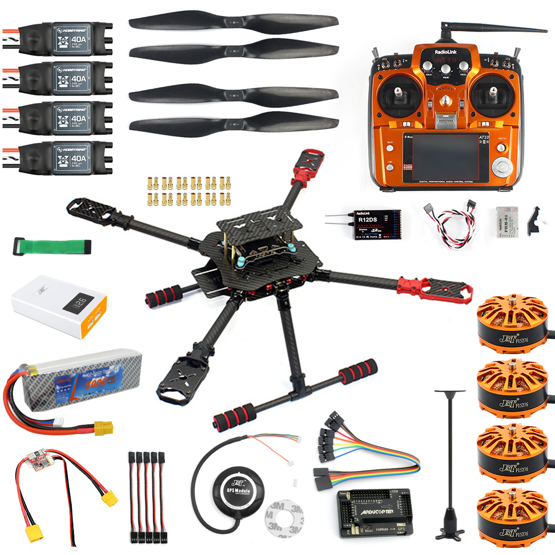US$ 343 91 - DIY GPS Drone 2 4Ghz AT10 X4 560mm Umbrella Foldable