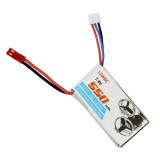 7.4V 550mAh 80C Lipo Battery for KINGKONG ET115 ET125 FPVEGG FPV Racing Drone Racer