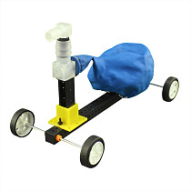 Feichao DIY Science Experiment Equipment Balloon Powered Trolley Recoil Car Model Educational Toys
